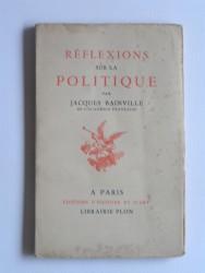Réflexions sur la politique