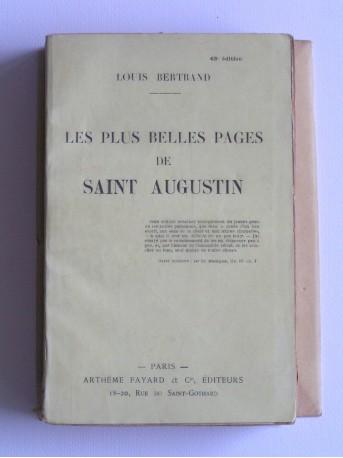 Louis Bertrand - Les plus belles pages de Saint Augustin