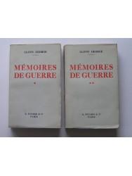 Mémoires de guerre. Tome 1 & 2