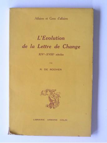 Raymond de Roover - L'évolution de la lettre de change. XIVe - XVIIIe siècles