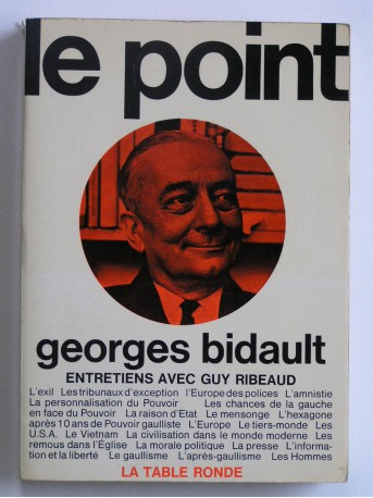 Georges Bidault - Le point