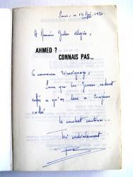 Colonel Bernard Moinet - Ahmed, connais pas...