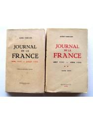 Alfred Fabre-Luce - Journal de la France. Tome 1: Mars 1939 - juillet 1940 & Tome 2: Aout 1940 - avril 1942