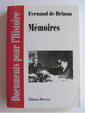 Fernand de Brinon - Mémoires
