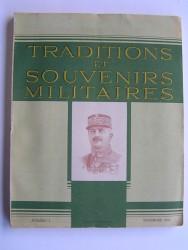 Traditions et souvenirs militaires. Numéro 1. Novembre 1943