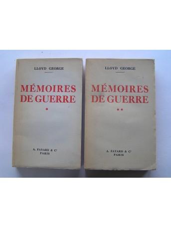Lloyd George - Mémoires de guerre. Tome 1 & 2