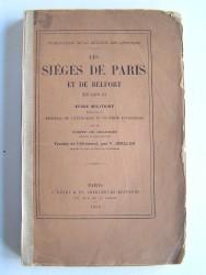 Les sièges de Paris et de Belfort en 1870-1871