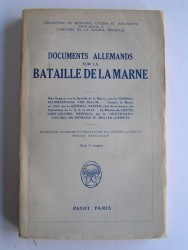 Documents allemands sur la bataillede la Marne.