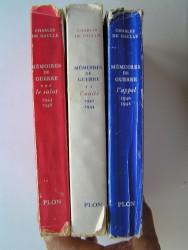 Mémoires de guerre. Complet en trois volumes. 1940 - 1946