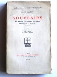 Souvenirs des milieux littéraires, politiques, artistiques et médicaux