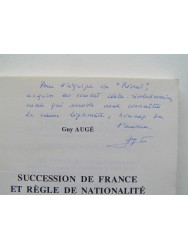 Succession de France et règle de nationalité