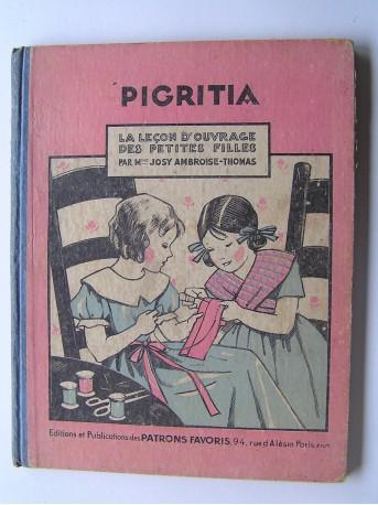 Josy Ambroise-Thomas - Pigritia. La leçon d'ouvrage des petites filles
