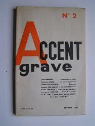 Collectif - Accent grave. N°2. Février 1963
