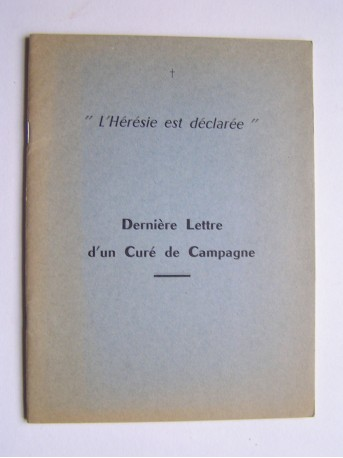 Abbé Louis Coache - Dernière lettre d'un Curé de Campagne