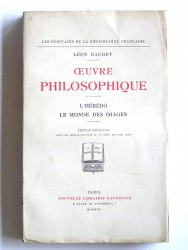 Oeuvre philosophique