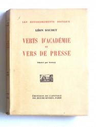 Verts d'académie et vers de presse
