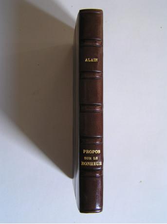 Alain (Emile-Auguste Chartier) - Propos sur le bonheur