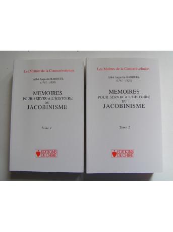 Abbé Augustin Barruel - Mémoires pour servir à l'histoire du Jacobinisme. Complet. Tomes 1 & 2.