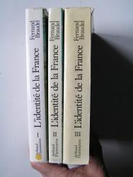 Fernand Braudel - L'identité de la France. Complet des 3 tomes.