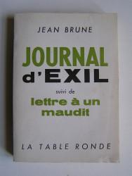 Journal d'exil suivi de Lettre à un maudit