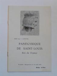 Panégyrique de Saint-Louis. Roi de France