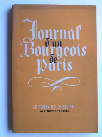 Anonyme - Journal d'un bourgeois de Paris