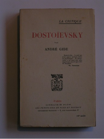 André Gide - Dostoïevsky