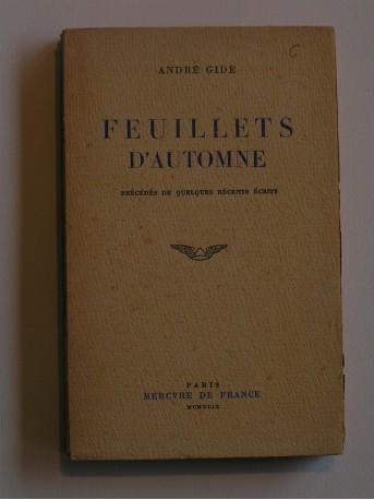 André Gide - Feuillets d'automne