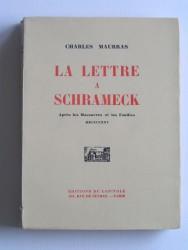 La lettre à Schrameck. Après les massacres et les fouilles