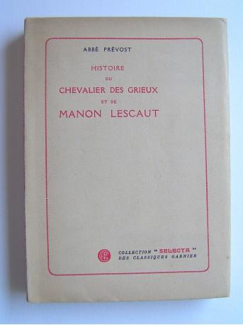 Abbé Prévost - Histoire du chevalier des Grieux et de Manon Lescaut