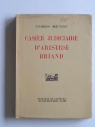 Casier judiciaire d'Aristide Briand