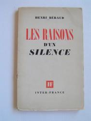 Les raisons d'un silence
