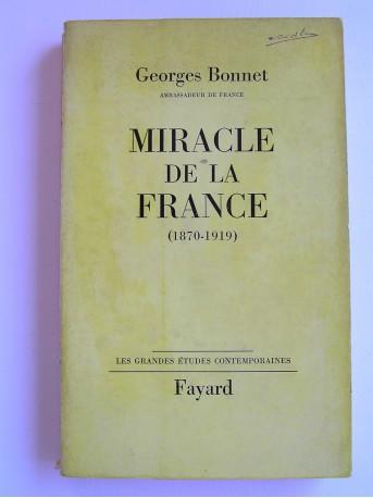 Ambassadeur de France Georges Bonnet - Miracle de la France