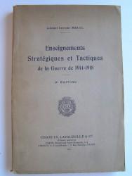 Enseignements Stratégiques et Tactiques de la guerre de 1914 - 1918