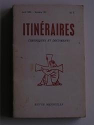 Itinéraires n°122. Chroniques et documents