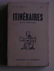 Itinéraires n°164. Chroniques et documents