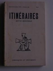 Itinéraires n°236. Chroniques et documents