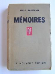Emile Baumann - Mémoires