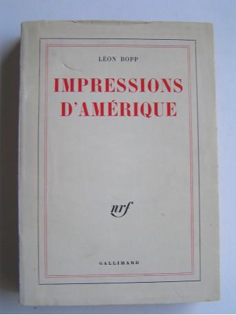 Léon Bopp - Impressions d'Amérique