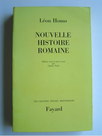 Léon Homo - Nouvelle histoire romaine