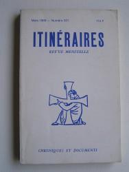 Itinéraires. Numéro 331. Hervé de Blignères.