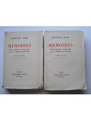 Mémoires pour servir à l'histoire de la guerre de 1914-1918. Tome 1 & 2