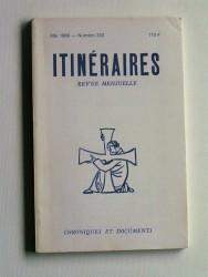 Itinéraires. Chroniques et documents