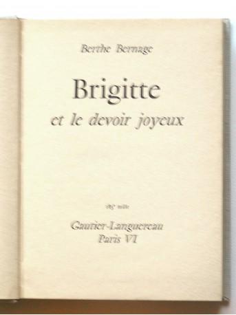 Berthe Bernage - Brigitte et le devoir joyeux