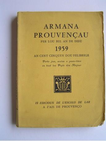 Collectif - Armana prouvençau per lou bel an de Dieu 1959