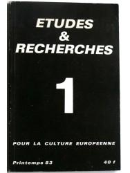 Collectif - Etudes et recherches. Pour la culture européenne