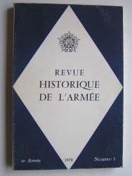 Revue historique de l'Armée. Numéro 1 - 1970