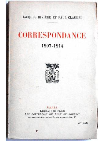 Jacques Rivière - Correspondance. 1907 - 1914