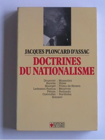Jacques Ploncard d'Assac - Doctrines du nationalisme